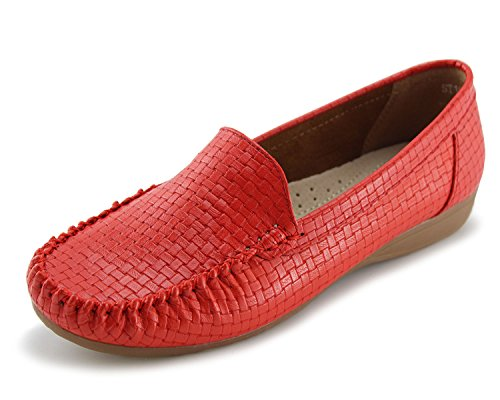 JABASIC Women's Slip-on Loafers Flat Casual Driving Shoes
