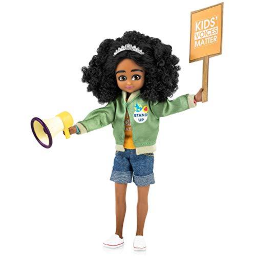Lottie Kinder Aktivist Puppe   Niedliche Schwarze Puppen für Mädchen und Jungen Outfit   Puppe auf Einer Mission!   Für Kinder ab 6 Jahren   LT071