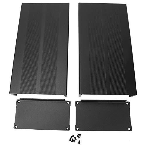 LiebeWH Elektronische DIY Leiterplatten-Projekt Aluminiumbox Kühlkoffer 55 x 106 x 200 mm schwarz Aluminium bedruckte Leiterplattenbox (sandschwarz mit Biegeplatte)