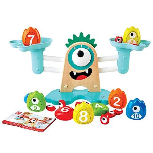 Hape Math Scale-Colourful, Educational Wooden Toy Monster Escala matemáticas – Colorido, Juguete Educativo de Madera (E0511) (Juguete)