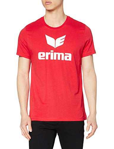 Erima Casual Basics T-Shirt Homme, Rouge, FR (Taille Fabricant : XXL)