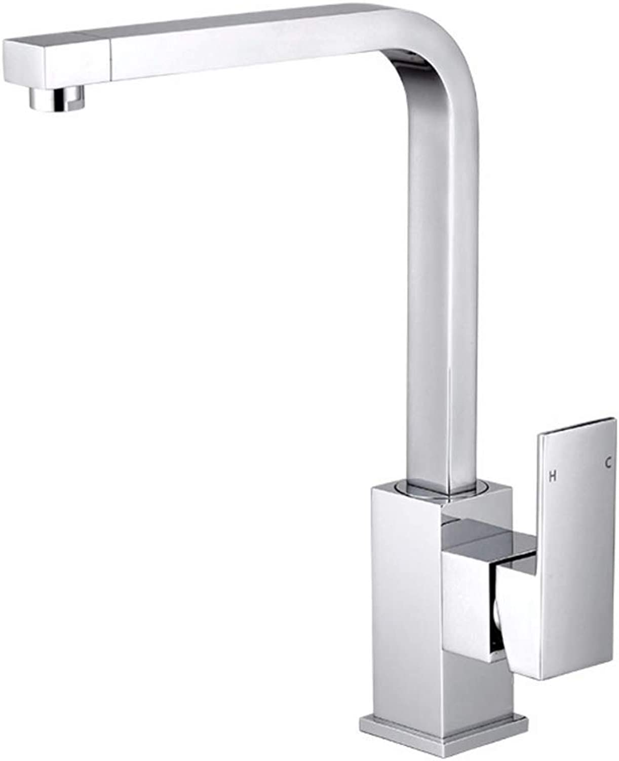 Basin Mixer Tap Bath Fixtures Wash Basinsinkkitchen Single Hole Single Handle Hot and Cold Square redary Basin Faucet