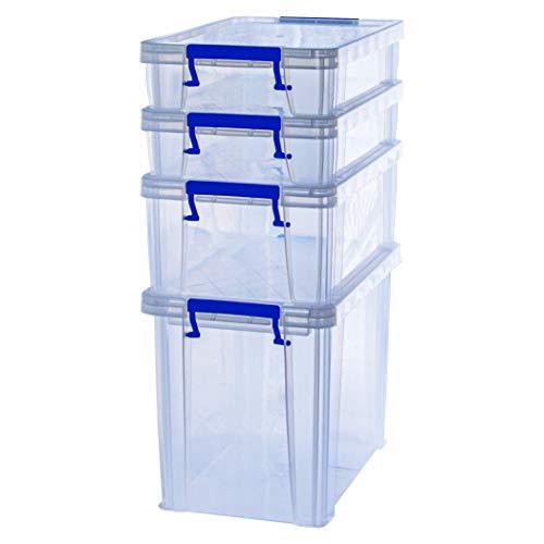 BANKERS BOX ProStore Aufbewahrungsboxen mit Deckel Set (2x 5,5 Liter + 1x 10 Liter + 1x 18,5 Liter) aus Plastik
