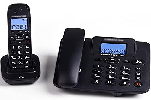 Conjunto De Teléfonos Inalámbricos Digitales con Pantalla LCD Pantalla De Línea Fija Teléfono con Máquina De Respuestas - Paquete De 2 (Color: Negro),Negro