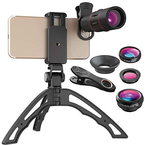 SYLOZ-URG Teléfono Lente telefoto 18x + Ojo + granangular + Macro + Cuatro en un Conjunto Universal SYLOZ-URG