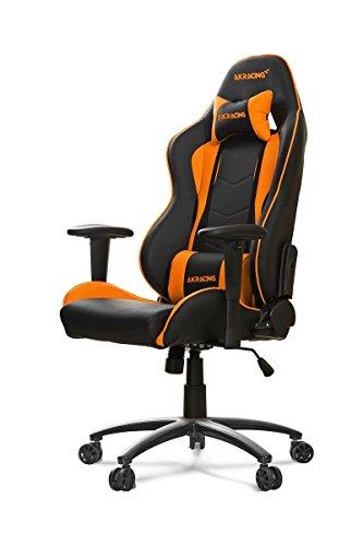 AKRacing Nitro - AK-NITRO-OR - Silla Gaming, Color Negro/Naranja