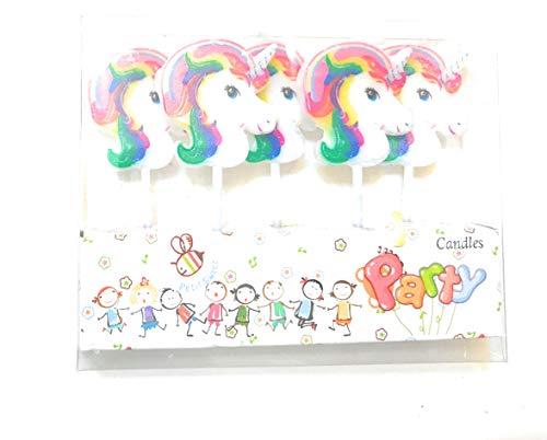CharmTM Set of 5 Unicorn Emoji Birthday Cake Candles