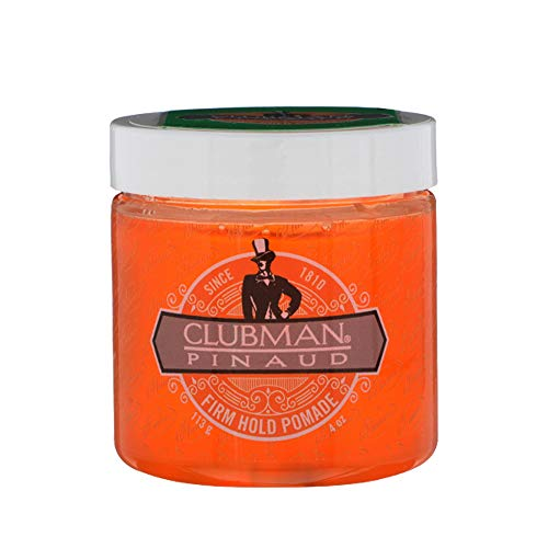Clubman Firm Hold Pomade, Travel Size Hair Styling Gel for Men, 4 oz