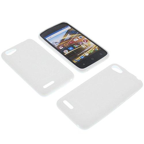 foto-kontor Tasche für Archos 40 Neon Gummi TPU Schutz Handytasche weiß