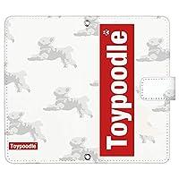 OPPO A73 ケース [デザイン:1.ボックスロゴ/マグネットハンドあり] トイプードル 犬 オッポ 楽天モバイル a73 手帳型 スマホケース スマホカバー 手帳 携帯 カバー