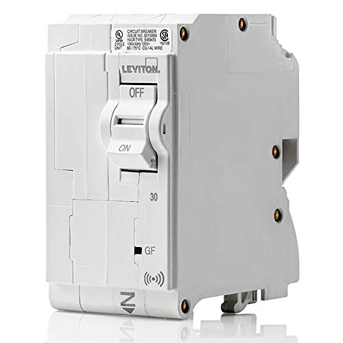 Leviton LB230-GS 30 Amp, 2-Pole Plug-on Smart GFCI Branch Circuit Breaker, 120 VAC, White
