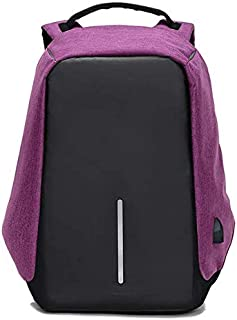 Anti Theft Design Purple Backpack with USB Charging Port shoulder bag for students business people KBD