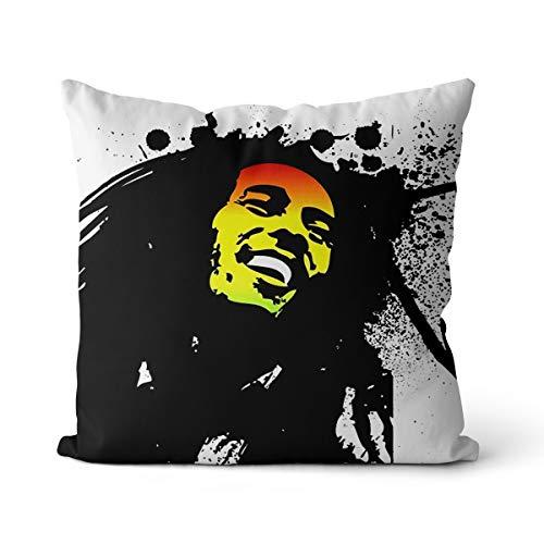 Almohada Bob Marley 45x45cm Leyenda Bob Marley Almohada de Relleno elástico con núcleo de Espuma viscoelástica