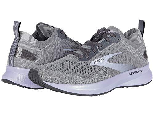 Brooks Levitate 4 Running Shoe Grey/Blackened Pearl/Purple 8 B (M)