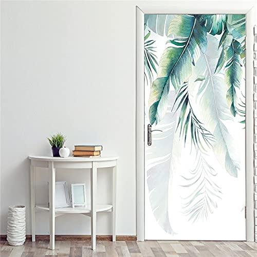 DFKJ Papel Pintado Autoadhesivo Pegatinas de renovación en la Puerta Entrada Impermeable Animal decoración del hogar calcomanía impresión Imagen artística A1 77x200cm