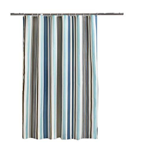 DOLOVE Antischimmel Duschvorhang 200x220 Streifen Duschvorhänge Aus Stoff Polyester Duschvorhang Vintage