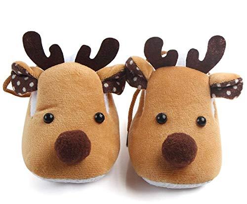 Schoenen voor pasgeborenen - kinderen - 0/12 maanden antislipschoenen rendieren kerstkleur naar keuze zeer hot cadeau-idee babyjongen unisex