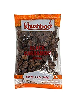 Khushboo Black Cardamom Pods 3.5 oz  100g    Organic Vegan friendly NON-GMO s   Whole  