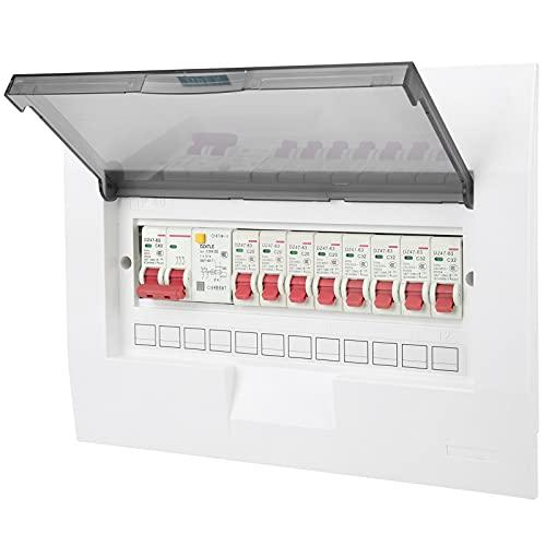 Interior Distribución Caja, Poder Distribución Proteccion 230/400v Guía Carril Instalación Circuito Interruptor automático con El plastico