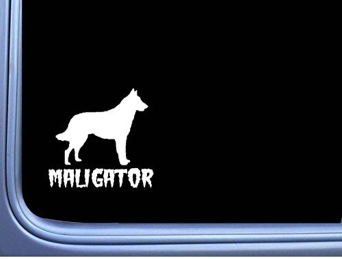 EZ-STIK Maligator Belgian Malinois M350 6 inch Sticker Decal Dog Caution k9