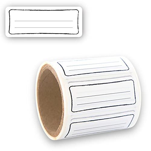 Etiketten Selbstklebend 100 Stück, Klebe-Etiketten zum Beschriften von Einmach-Gläsern, Aufkleber Marmeladenglas Beschriftbar, Gewürzetiketten 50 x 20mm