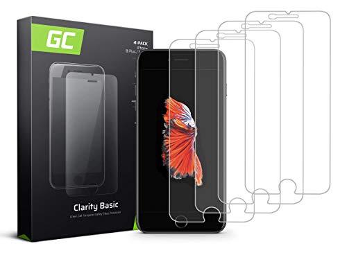 Green Cell 4 Stück Panzerglas für iPhone 6 Plus 6S Plus 7 Plus 8 Plus Displayschutzfolie Schutzfolie Schutzglas 9H Härte Glasfolie Glass Screen Protector Panzerfolie