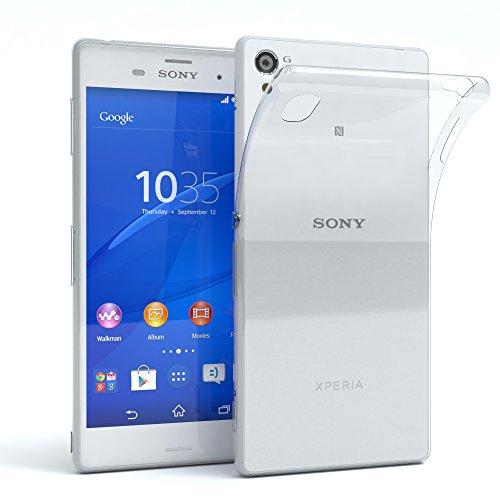 EAZY CASE Hülle kompatibel mit Sony Xperia Z3 Schutzhülle Silikon, Ultra dünn, Slimcover, Handyhülle, Silikonhülle, Backcover, Durchsichtig, Klar Transparent