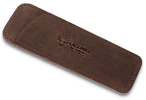 LAGUIOLE en Aubrac - braunes Etui - Vintage Leder - Einstecketui für EIN Laguiole Taschenmesser 11/12 cm