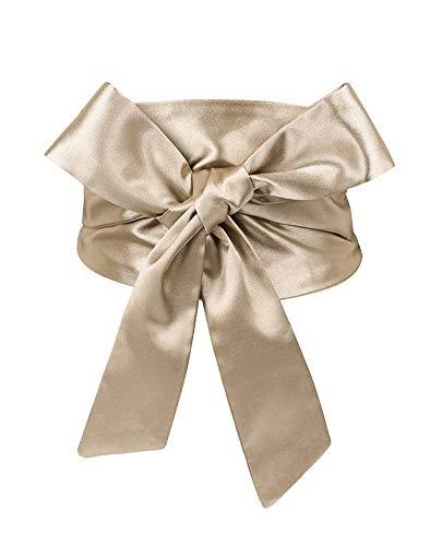 Idopy Cinturón de lazo de nudo ancho para mujer Cincha corsé Cinturón Cinturón Cincha