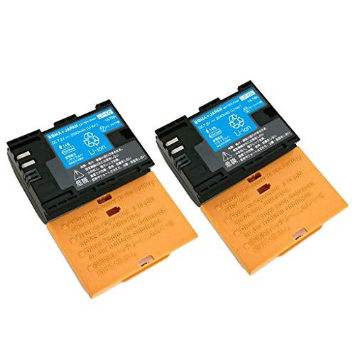 【日本規制検査済み】CANON LP-E6 LP-E6NH 互換 バッテリー 【2個セット】【残量表示 純正充電器対応】【ロワジャパンPSEマーク付】