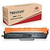 Toner Kingdom Cartucho de Tóner Compatible Repuesto para Brother TN247 TN243 para DCP-L3550CDW MFC-L3750CDWHL-L3210CW HL-L3230CDW HL-L3270CDW MFC-L3710CW MFC-L3730CDN MFC-L3770CDW (1 Paquete)