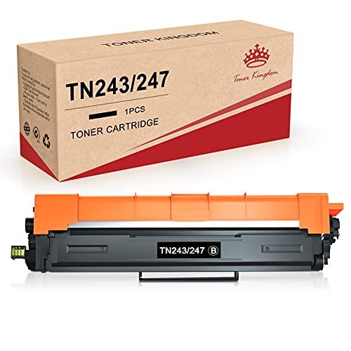 Toner Kingdom Kompatible Tonerkartuschen für Brother TN247BK TN243 kompatibel mit Brother HL-L3210CW HL-L3230CDW HL-L3270CDW MFC-L3710CW MFC-L3730CDN MFC-L3750CDW MFC-L3770CDW DCP-L3510CDW(1 Schwarz)