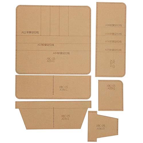 Longzhuo Brieftasche Acryl Brieftasche Vorlage Transparentes Handbuch DIY Portfolio Leder Handwerk für Lange Brieftasche