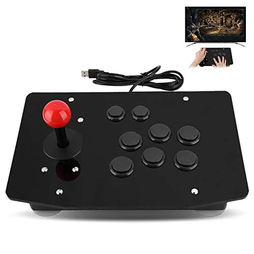 Arcade Stick,Tangxi Fighting Stick with 8 Buttons,USB Arcade Fighting Stick for XP, win7, win8,Android 4.0 or Above(Black)