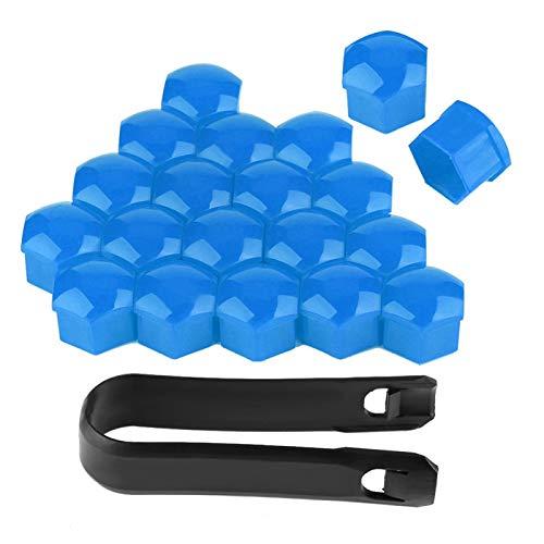Tuerca de rueda, nailon de calidad Pa66, 20 piezas, fácil de instalar, cubiertas para tuercas de 19 mm, antióxido, para todos los tornillos de 19 mm para la(blue)