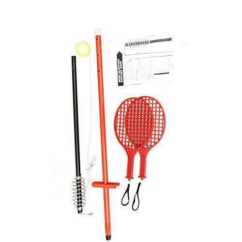 Tetherball AllOutdoor Tennis Game Swingball con 2 Raquetas Juego al Aire Libre para niños, Adultos y diversión Familiar - Juego de Ejercicios con Pelota de Tenis y Raqueta de Paleta