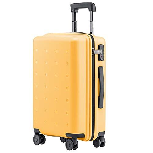 FREEUP Maleta ligera de mano para equipaje de mano, funda rígida, bolsa de viaje, 37,6 x 21,5 x 55 cm, 36 litros, 4 ruedas, cerradura TSA, amarillo, 37.6x21.5x55cm