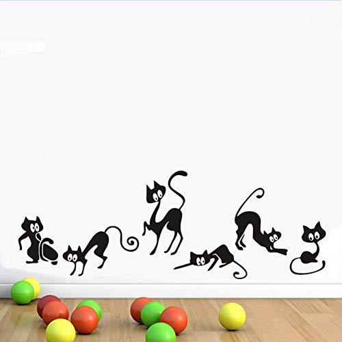 LeeyplTM muursticker, kat, voorkomt water, afneembaar, voor kantoor, woonkamer, slaapkamer, achtergrond