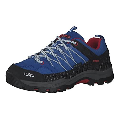 CMP Rigel Low Trekking Shoe Wp Walking-Schuh, Cobalto-Stone-Fire, 33 EU