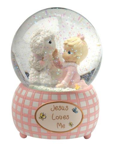 Precious Moments,  Jesus Loves Me, Snow Globe, Resin, Girl, 102403