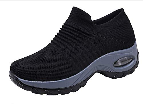 Zapatos de Trabajo Muy cómodos para Trabajos de hostelería y no resbalan-UniseZapatos Casuales Muy cómodos para Trabajos de hostelería y no resbalan-Unisex-adultox-Adulto (37 EU, Negro)