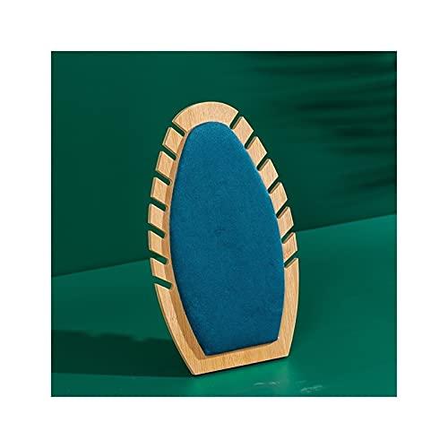SONG Moda Collar de Madera Soporte Azul Soporte para titulares de joyería Organizador de joyería Joyería Mostrar Caja Maniquine Personalizado (Color : B)