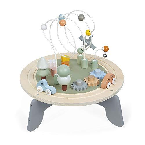 Janod Sweet Cocoon en Bois-Table Multijeux Adaptée aux Tout-