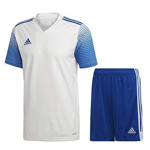 adidas Fußball Regista 20 Trikotset Trikot Shorts Trainingsset Kinder weiß blau Gr 116