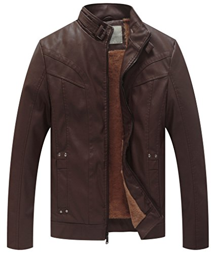 Men Stand Up Collar Leather Jackets