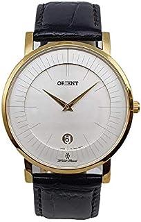 ساعة اوتوماتيك بسوار جلد للرجال موديل SGW01008W0 من اورينت