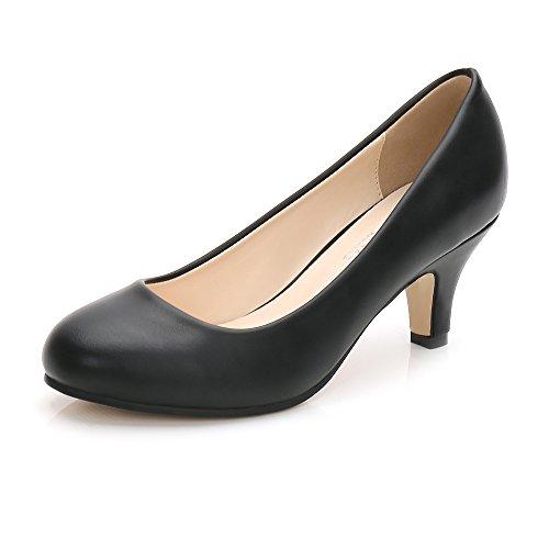 OCHENTA Womens' Pumps Shoes PU Black 39