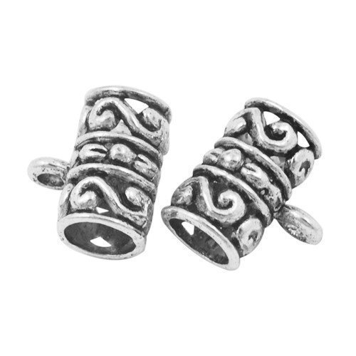 Charming Beads Pacco 10 x Argento Antico Tibetano 12 x 13mm Ganci per Ciondoli - (Y01240)