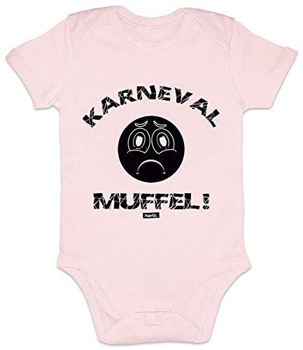 Hariz - Body para bebé, manga corta, carnaval, muffel, carnaval, disfraz y tarjetas de regalo rosa Algodón de azúcar rosa. Talla:0-3 meses