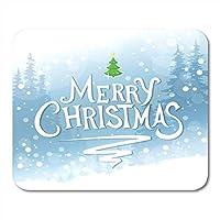 マウスパッドブルーセレブレーションメリークリスマスグリーンおめでとう描画イベントFirマウスパッドノートブック用、デスクトップコンピューターマウスマット、オフィス用品